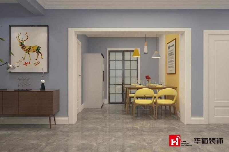御河湾三室两厅北ou风格装修方案